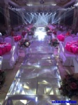 OLA001 acrylic panel wedding stage